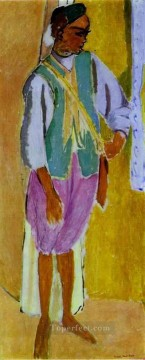 left Canvas - The Moroccan Amido Lefthand panel of a triptych Fauvist