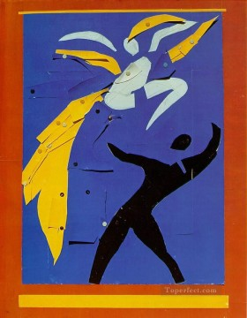 Two Dancers Study for Rouge et Noir 1938 Fauvist Oil Paintings