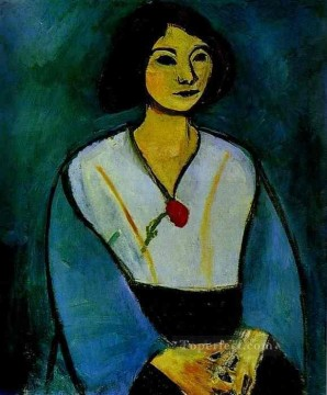 Woman in Green with a Carnation 1909 Fauvist Oil Paintings