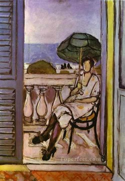 Woman with Umbrella 1919 Fauvist Oil Paintings
