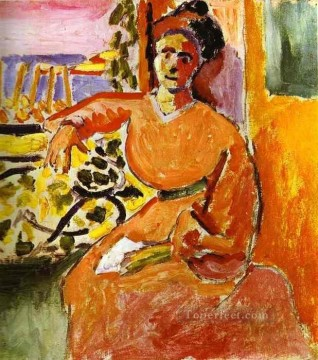 A Woman Sitting before the Window 1905 Fauvist Oil Paintings