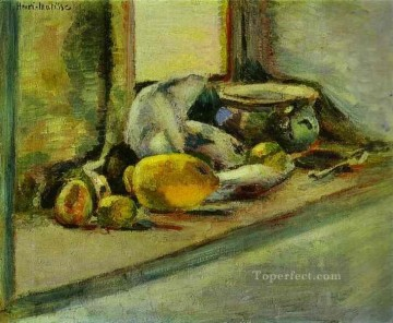 Blue Pot and Lemon c 1897 Fauvist Oil Paintings