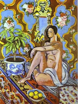Decorative Figure on an Ornamental Background 1925 Fauvist Oil Paintings