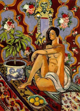 Decorative Painting - Decorative Figure on an Ornamental Ground Late 1925Spring 1926 Fauvist