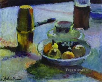Fruit and CoffeePot 1899 Fauvist Oil Paintings