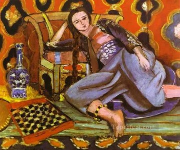 Odalisque on a Turkish Sofa 1928 Fauvist Oil Paintings