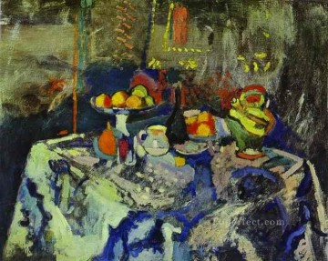 Still Life with Vase Bottle and Fruit c 1903 Fauvist Oil Paintings
