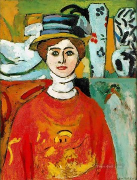 The Girl with Green Eyes 1908 Fauvist Oil Paintings
