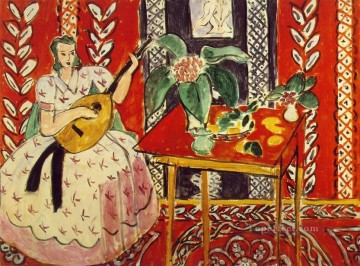 The Lute Le luth February 1943 Fauvist Oil Paintings
