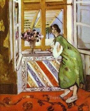Young Girl in a Green Dress 1921 Fauvist Oil Paintings