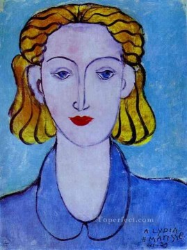 Young Woman in a Blue Blouse Portrait of Lydia Delectorskaya the Artist s Secretary 1939 Fauvist Oil Paintings