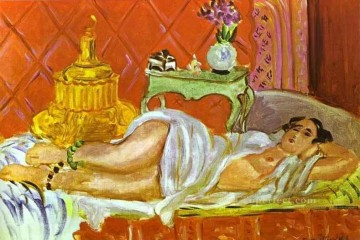 Odalisque Harmony in Red 1926 Fauvist Oil Paintings