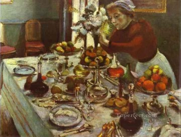 Dinner Table 1897 Fauvist Oil Paintings