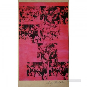 Red Race Riot POP Oil Paintings