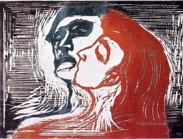 Artworks in 150 Subjects Painting - man and woman i 1905 Edvard Munch POP Art