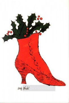 Pop Painting - red Boot Wit Holly POP
