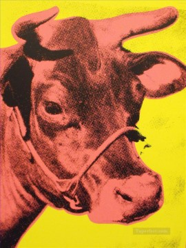 cattle bull cow Painting - Cow 2 POP