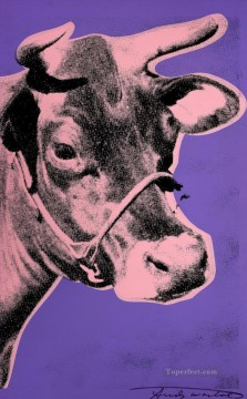 cattle bull cow Painting - Cow 5 POP