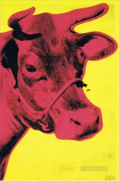 cattle bull cow Painting - Cow yellow POP