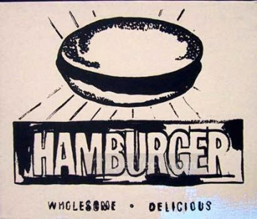 Hamburger beige POP Oil Paintings