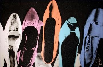 Shoes black POP Oil Paintings