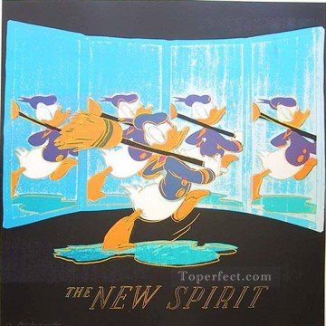 The New Spirit donald Duck POP Oil Paintings