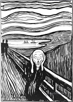 Artworks in 150 Subjects Painting - The Scream by Edvard Munch 1895 POP Art
