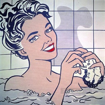 Pop Painting - woman in bath 1963 POP