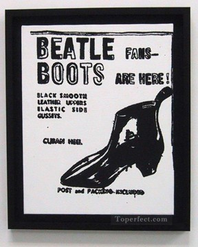 Pop Painting - Beatle Boots POP