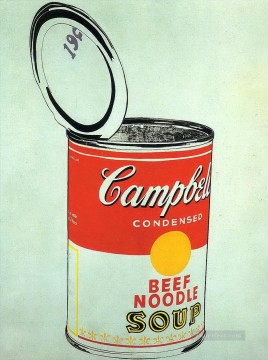 Big Campbell s Soup Can 19c Beef Noodle POP Oil Paintings