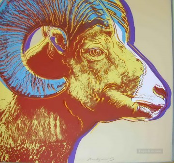 Bighorn Ram Endangered Species 2 POP Artists Oil Paintings