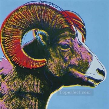 Pop Painting - Bighorn Ram Endangered Species POP