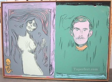 madonna Painting - Madonna And Self Portrait With Skeleton s Arm after Munch POP Artists