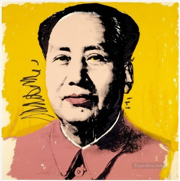 Mao Zedong yellow POP Artists Oil Paintings