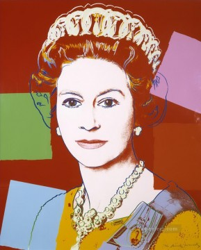 Queen Elizabeth II of the United Kingdom POP Artists Oil Paintings