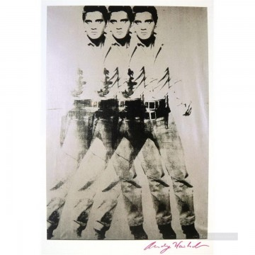 Triple Elvis POP Artists Oil Paintings