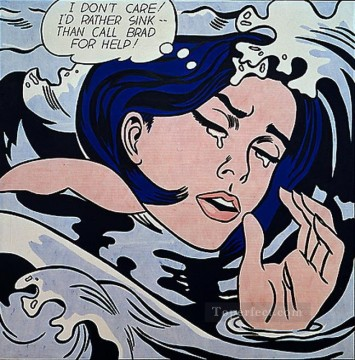 Pop Painting - drowning girl 1963 POP Artists