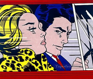 in the car 1963 POP Artists Oil Paintings