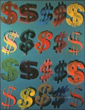 Dollar Sign 3 POP Artists Oil Paintings