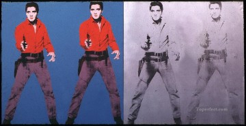 Elvis I & II POP Artists Oil Paintings