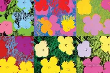 Pop Painting - Flowers 6 POP Artists