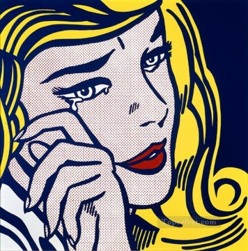 Pop Painting - crying girl 1964 POP Artists