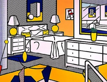 Pop Painting - interior with mobile 1992 POP Artists