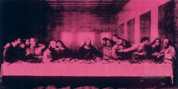 last supper Painting - Last Supper Purple POP Artists