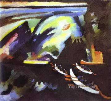 Boat Trip Abstract Oil Paintings