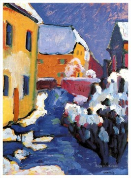 Purely Abstract Painting - Cemetery and vicarage in Kochel Abstract