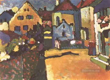 Purely Abstract Painting - Grungasse in Murnau Abstract