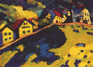 Houses at Murnau Abstract Oil Paintings