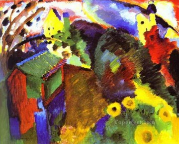 Murnau Garden Abstract Oil Paintings