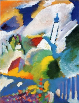 Murnau with a church Abstract Oil Paintings